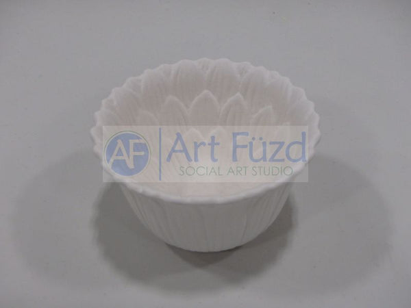 Small Vertical Sunflower Bowl ~ 4.5 in. dia. x 2.75 in. high