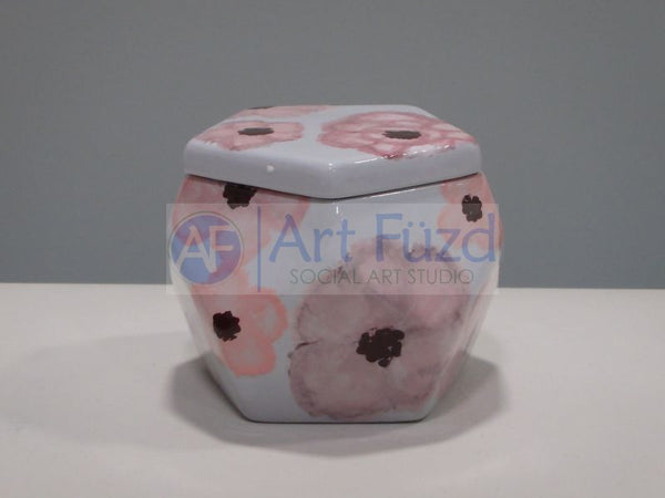 Faceted Box with Lid ~ 4 in. dia. x 3.25 in. high