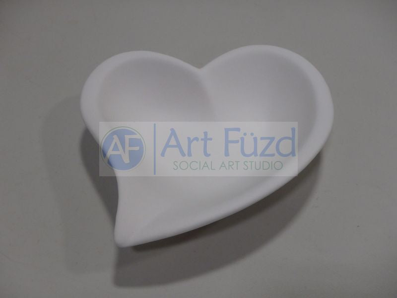 Medium Swirl Heart Bowl ~ 8 in. square x 2 in. high