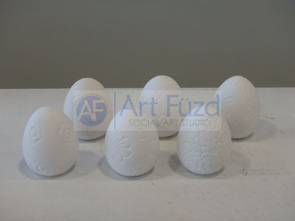Set of Textured Easter Eggs, Six (6) designs ~ 2 x 2.5 each