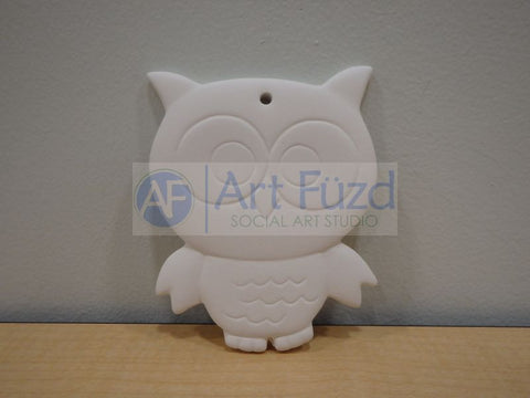 Flat Kooky Owl Holiday Ornament ~ 3 x 4