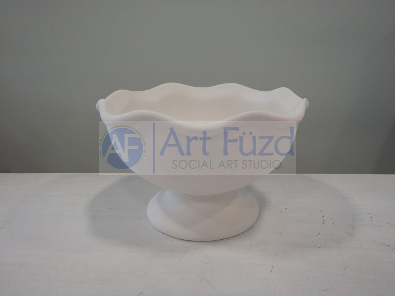 Small Ruffled Footed Ice Cream Bowl ~ 4.25 dia. x 2.5 high