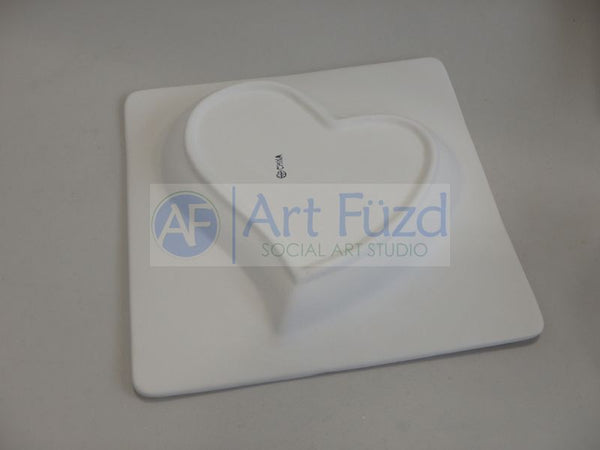 Large Love It Heart Platform Dish ~ 8.5 x 8.5 x 1.5
