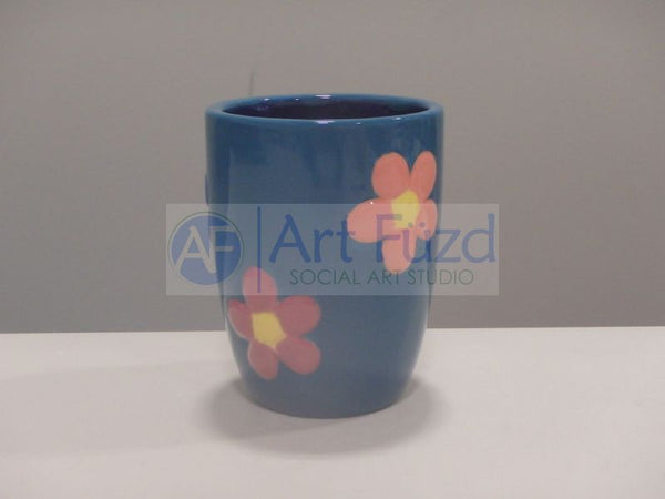 Small Flower Power Tumbler (8 oz.) ~ 3 in. dia. x 3.75 in. high