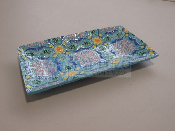Embossed Summertime Server Tray ~ 9.75 x 5.5 x 1