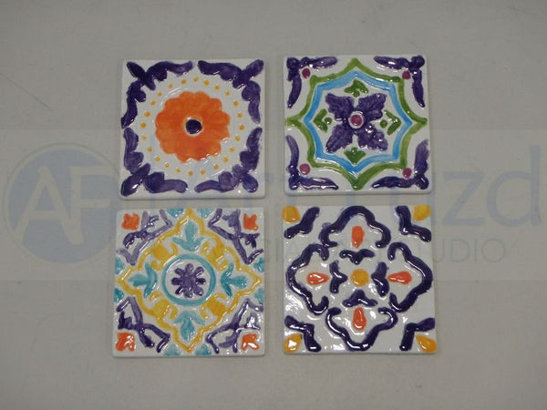 Set of Catalina Coasters, Four (4) designs ~ 3.5 x 3.5 x 0.25 each