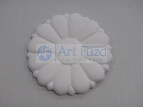 Large Pretty Garden Flower Bisquie ~ 4 in. dia. x 0.25 in. thick