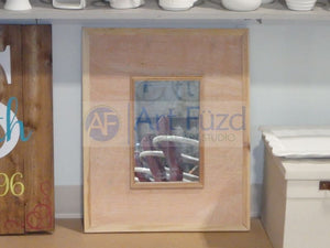 Wooden Rectangle Tile Mirror Frame, includes (14) 4.25 inch tiles ~ 23.25 x 19.5