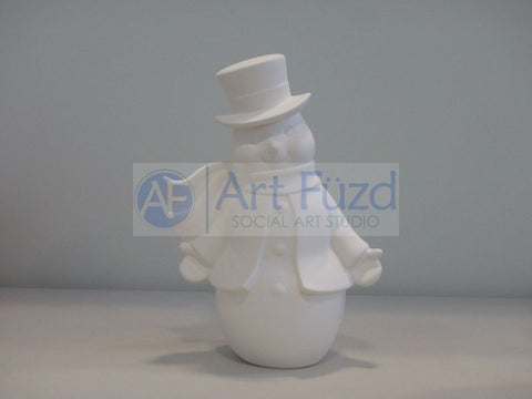 Large VIntage Snowman Figurine ~ 5 in. dia. x 8.25 x 12