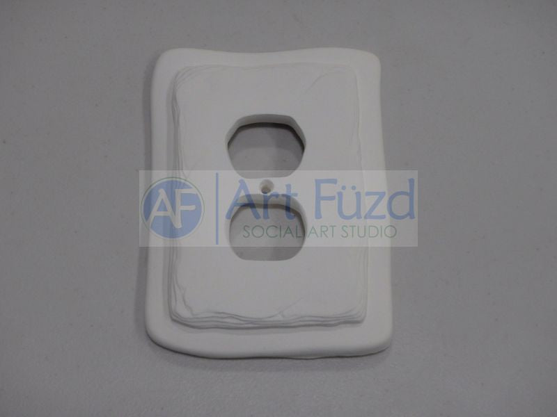 Irregular Edge Single Light Switch Plate ~ 4 x 5.5 x 0.50
