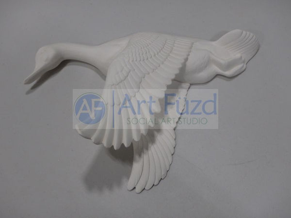 Large Duck Wall Plaque with Wings Downward ~ 12.5 x 9 x 4