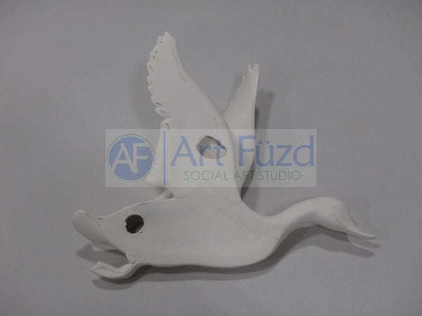 Large Duck Wall Plaque with Wings Upward ~ 11.25 x 9.25 x 4.5