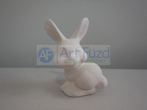 Miniature Happy Bunny Rabbit Squatting Figurine ~ 2 x 1.25 x 2.5