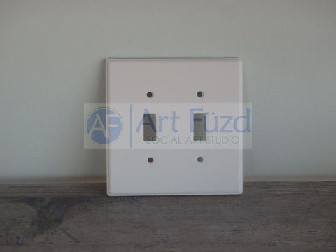 Double Light Switch Plate* ~ 5 in. sq.