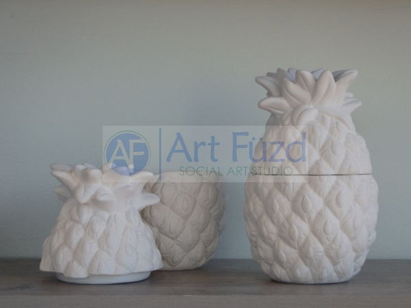 Pineapple Box with Lid ~ 4.7 x 7.5