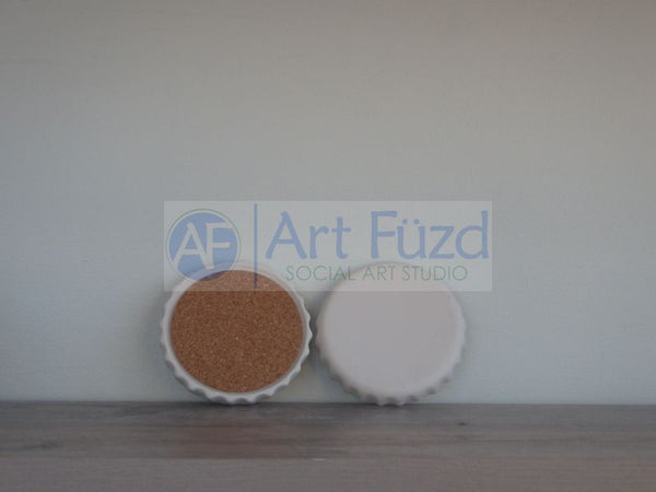 Bottle Cap Coaster, includes Cork ~ 4 in. dia.