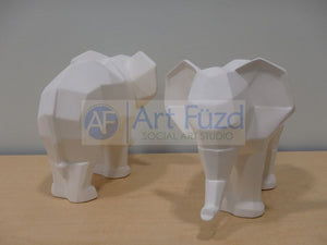 Faceted Elephant Figurine ~ 10.25 x 6.25 x 7.5