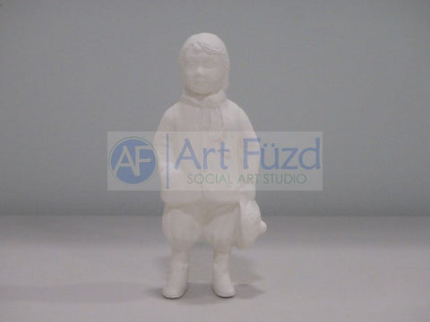 Medium Young Boy Standing with Hat Wearing Knickers Figurine
