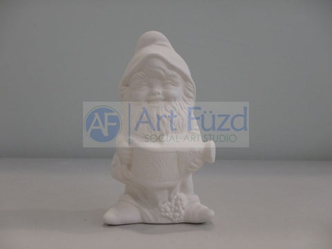 Small Gnome Gnogan Carrying a Watering Can Figurine