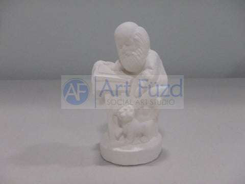Small Santa Busy at Writing Desk Figurine