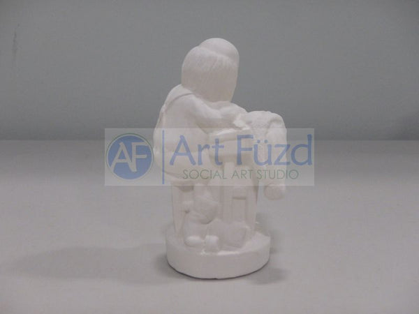 Small Santa Busy at Writing Desk Figurine ~ 1.75 x 1.75 x 3.25