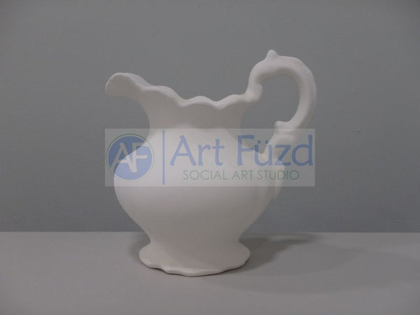 Medium Curvy Scalloped Water Pitcher ~ 7.25 x 6 x 7.5
