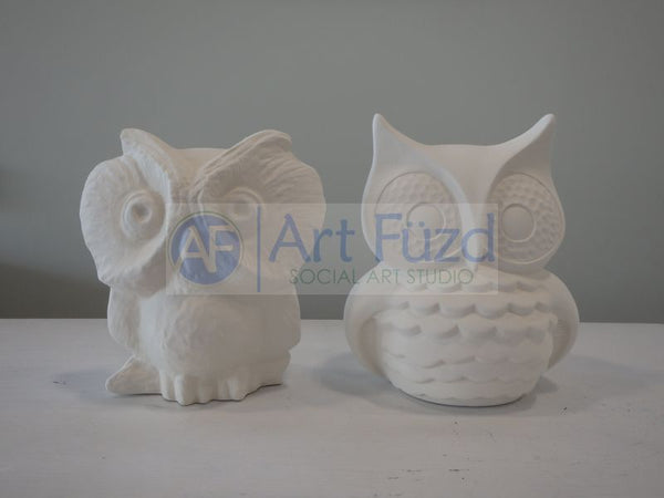 Owl Figurine (assorted vintage designs) ~ 5 x 5.5