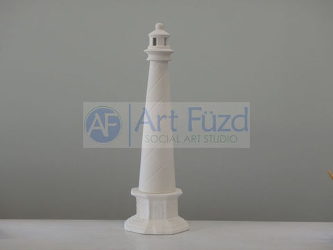 Very Tall Lighthouse with Base (3.75 in. tall), includes Light Kit ~ 5.75 x 5.75 x 18.5 high