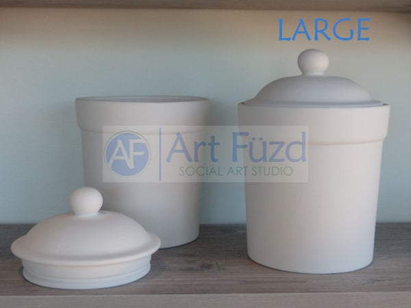 Large Canister with Lid, includes Rubber Gasket* ~ 6.75 x 9.25