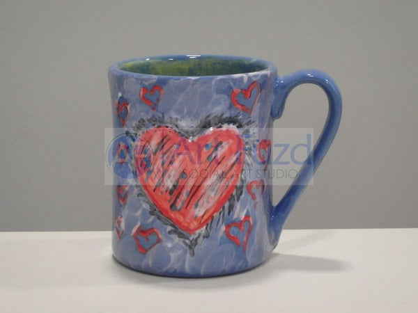 Heart Mug (12 oz.) ~ 3.5 in. dia. x 4.13 in. high