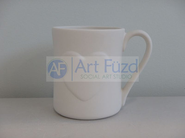Heart Mug ~ 3.5 in. dia. x 4.13 in. high