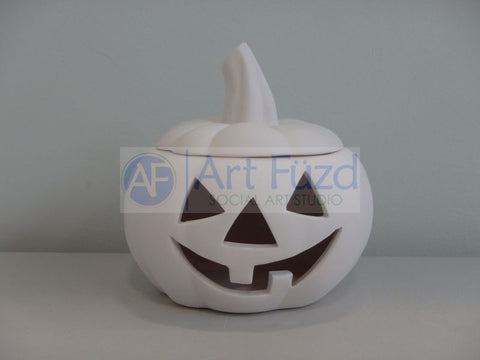 Medium Jack-O-Lantern with Lid ~ 5.5 x 5.5
