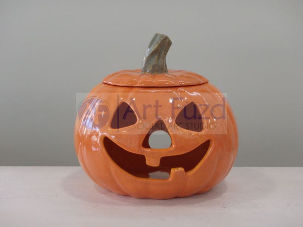 Large Jack-O-Lantern with Lid, includes Light Kit ~ 8 x 8