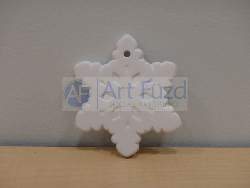 Flat Snowflake Holiday Ornament ~ 3.5 in. wide