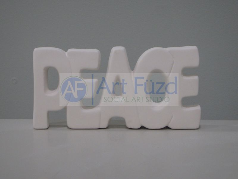 Peace Word Plaque ~ 8.5 x 4.25