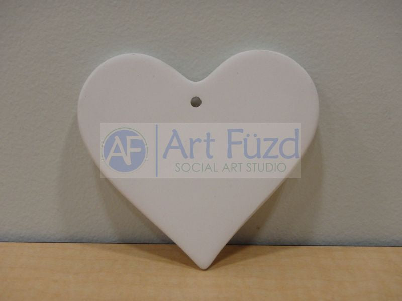 Flat Heart Holiday Ornament ~ 3 x 3.5