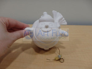 Flying Chubby Snowman Holiday Ornament, includes Hook ~ 4.25 x 4