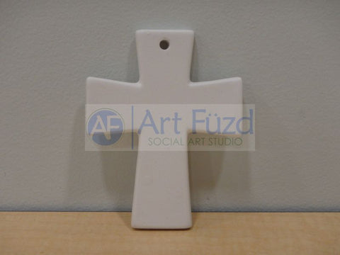 Flat Cross Holiday Ornament ~ 3 x 4