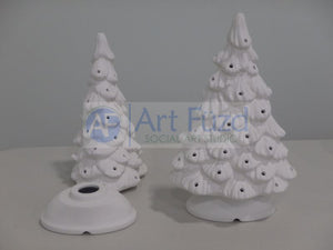 Shelf-Style Traditional Christmas Tree with Base, includes Light Kit ~ 7 x 11.25