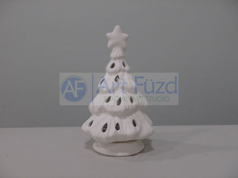 Christmas Tree Votive with Base ~ 4.5 x 7.25