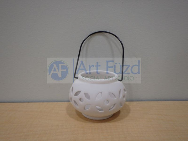 Hanging Oval Lantern, includes Wire Handle ~ 4 x 2.75