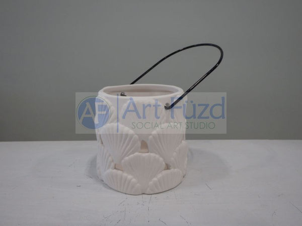 Small Shell Hanging Lantern, includes Hook ~ 3.25 in. dia. x 3.25 in. high