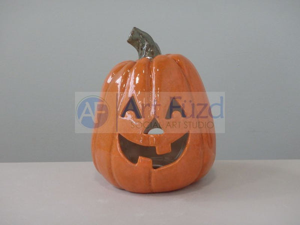 Large Light Up Pumpkin Lantern, includes Light Kit ~ 6.25 x 8