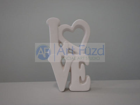 Stacked Love Word Wall Plaque ~ 4.5 x 8.25