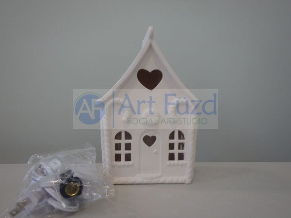 Light-Up Gingerbread House, includes Light Kit ~ 6 x 4.25 x 8.75