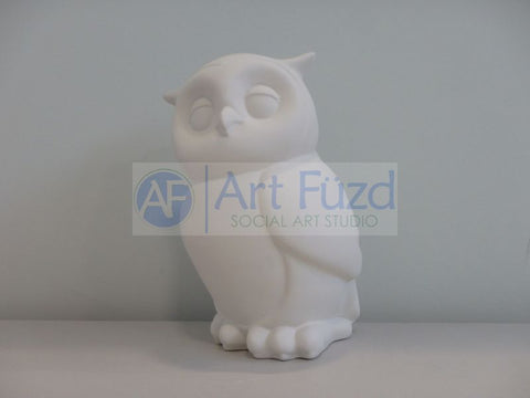 Large Owl Biggy Bank, includes Stopper ~ 5.5 x 9.5