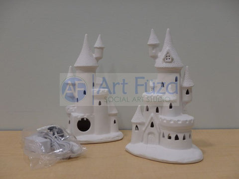 Castle Figurine, includes Light Kit ~ 6 x 9.5