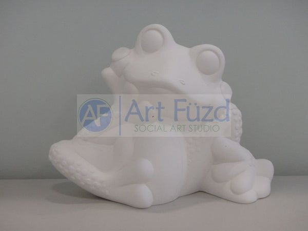 Large Wondering Frog Figurine ~ 13 x 5 x 9.5