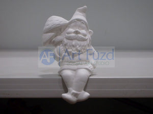 Medium Sitting Pappy Garden Gnome Holding Mushrooms Figurine ~ 3 x 10