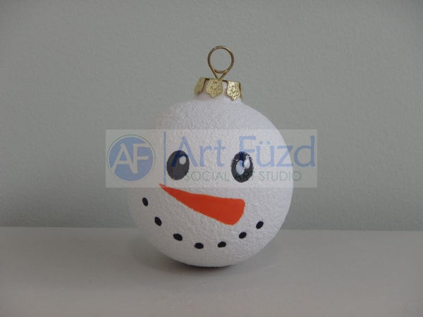 Snowman Small Round Holiday Ornament (6 Designs) ~ 2 x 2